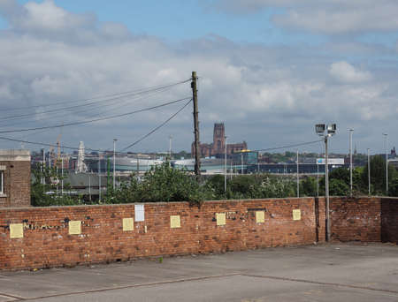 anglican: LIVERPOOL, UK - CIRCA JUNE 2016: View of the city skyline with the Anglican Cathedral
