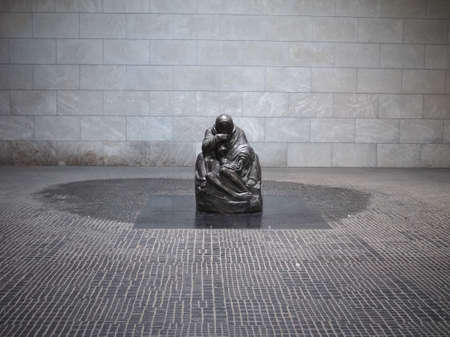urban parenting: BERLIN, GERMANY - CIRCA JUNE 2016: Sculpture of Mother with her Dead Son by Kollwitz at the Neue Wache (meaning New Guardhouse)
