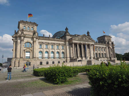houses of parliament: BERLIN, GERMANY - CIRCA JUNE 2016: Reichstag houses of parliament