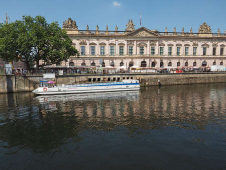 spree: BERLIN, GERMANY - CIRCA JUNE 2016: Boat on River Spree