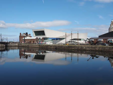mercantile: LIVERPOOL, UK - CIRCA JUNE 2016: The Museum of Liverpool designed by Danish architects 3XN at Pier Head part of Liverpool Maritime Mercantile City