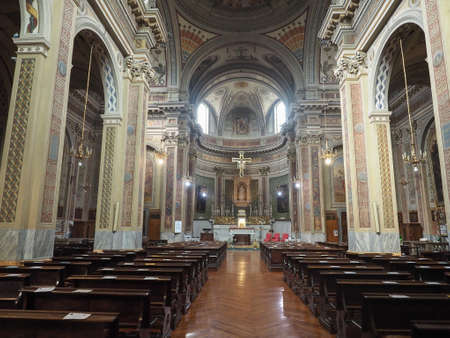 immaculate: TURIN, ITALY - CIRCA JUNE 2016: San Donato Immacolata Concezione (meaning Immaculate Conception) church