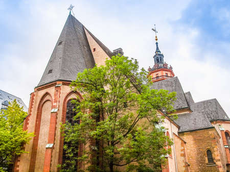 High dynamic range HDR Nikolaikirch St Nicholas Church in Leipzig Germany where Johann Sebastian Bach performed the world premiere of St John Passion Stock Photo