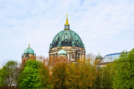 dom: High dynamic range HDR Berliner Dom cathedral church in Berlin, Germany