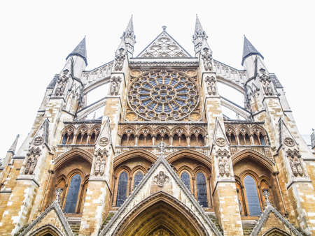 hdr background: High dynamic range HDR The Westminster Abbey church in London UK - isolated over white background