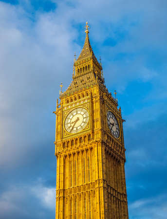 bigben: High dynamic range HDR Big Ben Houses of Parliament Westminster Palace London gothic architecture Stock Photo