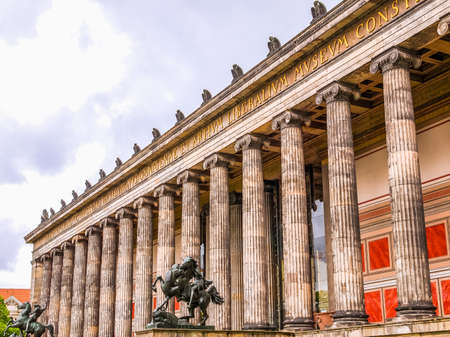 antiquities: High dynamic range HDR Altes Museum of Antiquities in Museumsinsel Berlin Germany