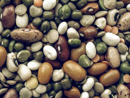 beans soup: Vintage desaturated Beans soup salad useful as a background