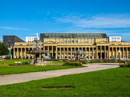 High dynamic range HDR The Schlossplatz (Castle square) in Stuttgart, Germany