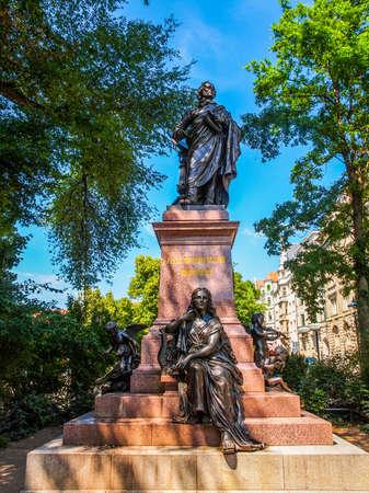 High dynamic range HDR The Mendelssohn Denkmal monument to German musician Jakob Ludwig Felix Mendelssohn Bartholdy was designed by Werner Stein in 1892 in Leipzig Germany