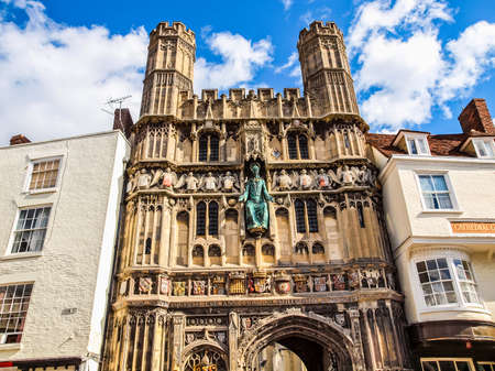augustine: High dynamic range HDR St Augustine Gate in Canterbury England UK