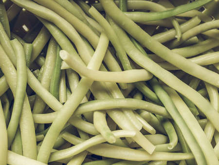 desaturated: Vintage desaturated Green beans aka string beans or snap beans vegetables