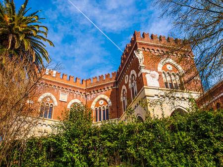 architecture alphabet: High dynamic range HDR Castello d Albertis gothic revival castle in Genoa Italy