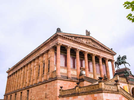 alte: High dynamic range HDR The Alte Nationalgalerie museum in Berlin, Germany