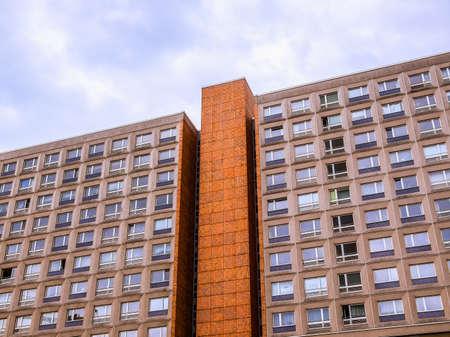 High dynamic range HDR Buildings in Alexander Platz Berlin designed by architect Peter Behrens