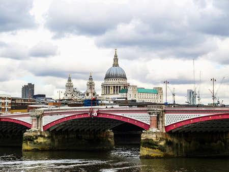 saint pauls cathedral: High dynamic range HDR Saint Pauls Cathedral in the City of London, UK Stock Photo