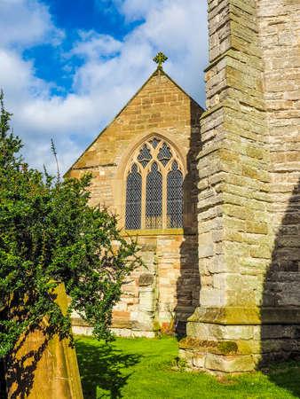 parish: High dynamic range HDR Parish Church of St Mary Magdalene in Tanworth in Arden, UK Stock Photo