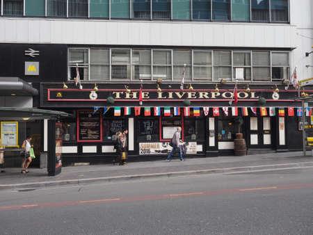 liverpool: LIVERPOOL, UK - CIRCA JUNE 2016: The Liverpool public house Editorial
