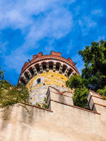 castello: High dynamic range HDR Castello d Alberti castle in Genoa Italy