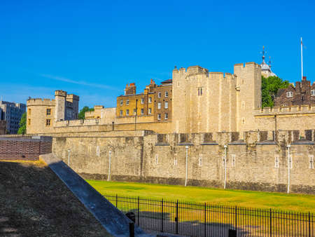 dungeons: High dynamic range HDR The Tower of London in London, UK