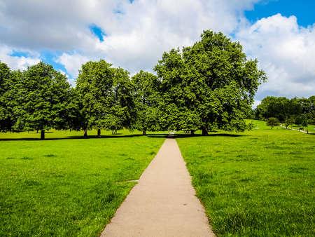 regent: High dynamic range HDR Regent Park landscape in London England UK