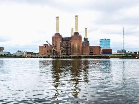 battersea: High dynamic range HDR Battersea Power Station in London, England, UK Editorial