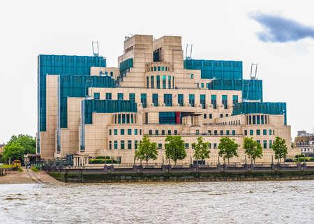 headquarters: High dynamic range HDR SIS MI6 headquarters of British Secret Intelligence Service at Vauxhall Cross London