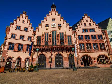 rathaus: High dynamic range HDR Frankfurt city hall aka Rathaus Roemer Germany