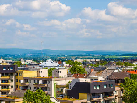 MAINZ: High dynamic range HDR View of the city of Mainz in Germany Stock Photo