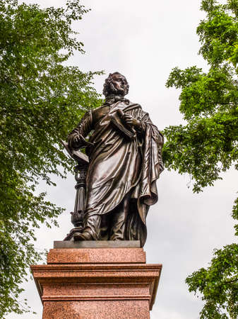 felix: High dynamic range HDR The Mendelssohn Denkmal monument to German musician Jakob Ludwig Felix Mendelssohn Bartholdy was designed by Werner Stein in 1892 in Leipzig Germany