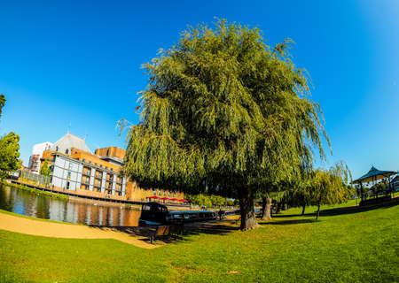 High dynamic range HDR River Avon in Stratford upon Avon, UK