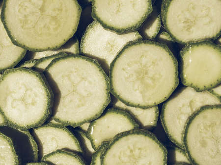 desaturated: Vintage desaturated Detail of courgettes or zucchini vegetable food Stock Photo