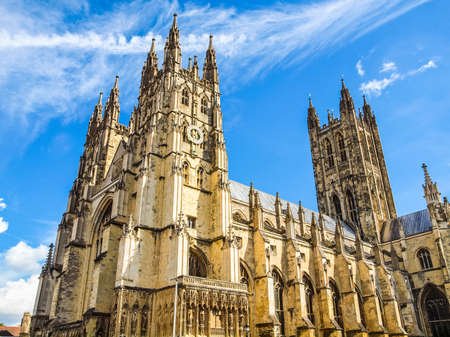 canterbury: High dynamic range HDR The Canterbury Cathedral in Kent England UK