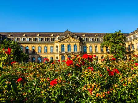 neues: High dynamic range HDR Neues Schloss (New Castle) in Stuttgart, Germany Editorial