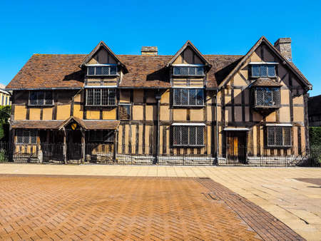 birthplace: High dynamic range HDR William Shakespeare birthplace in Stratford Upon Avon, UK