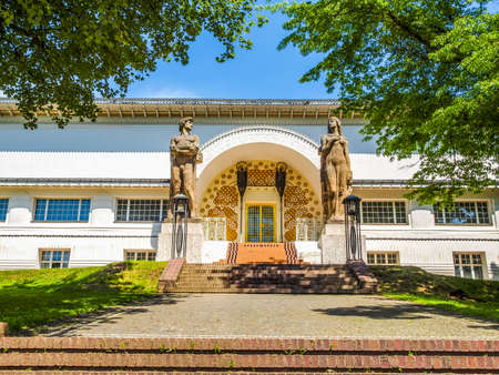 ludwig: High dynamic range HDR Ernst Ludwig Haus at Kuenstler Kolonie artists colony in Darmstadt Germany