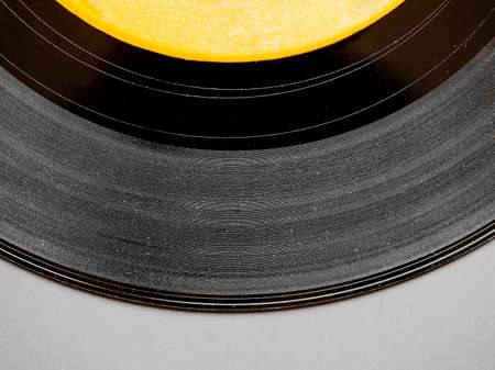 analog: Vinyl record vintage analog music recording medium Stock Photo