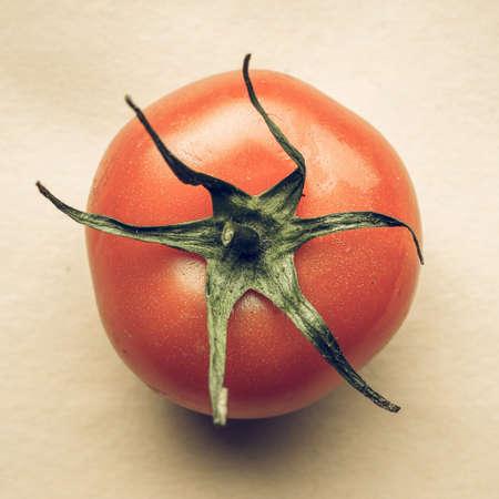 desaturated: Vintage desaturated Red tomatoes (Solanum lycopersicum) vegetables vegetarian food Stock Photo