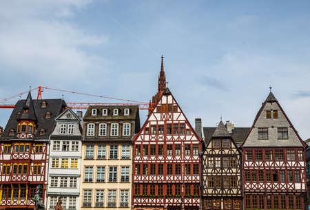 roemer: High dynamic range HDR Roemerberg old city in Frankfurt am Main Germany