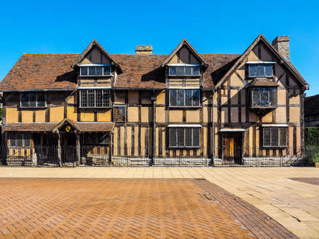 High dynamic range HDR William Shakespeare birthplace in Stratford Upon Avon, UK 版權商用圖片 - 60803084