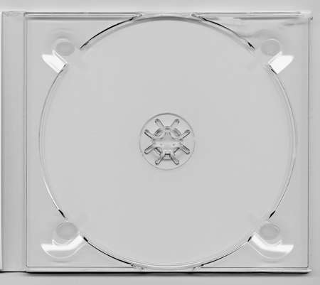 dvd case: CD or DVD case for music data video recording support