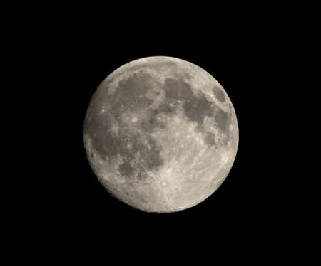 astrophoto: Full moon seen with an astronomical telescope