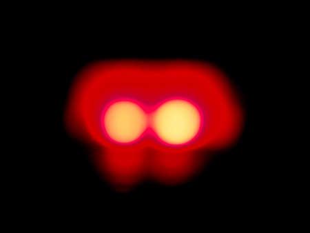 leds: difuminar la luz roja, fuera de foco leds Foto de archivo