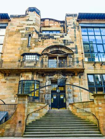 High dynamic range HDR The Glasgow School of Art designed in 1896 by Scottish architect Charles Rennie Mackintosh, Glasgow, Scotland