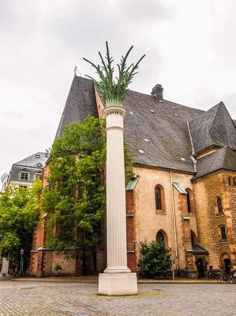 performed: High dynamic range HDR Nikolaikirch St Nicholas Church in Leipzig Germany where Johann Sebastian Bach performed the world premiere of St John Passion Editorial