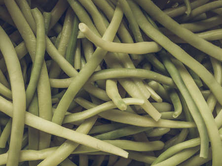 snap bean: Vintage desaturated Green beans aka string beans or snap beans vegetables