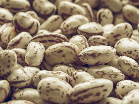 beans soup: Vintage desaturated Beans soup salad food useful as background