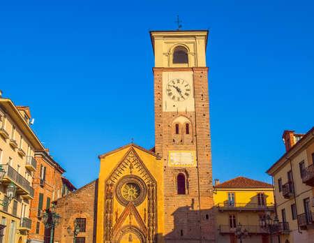 High dynamic range HDR Duomo di Santa Maria Assunta cathedral church in Chivasso, Piedmont, Italy