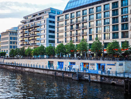 spree: BERLIN, GERMANY - CIRCA JUNE 2016: DDR museum on the bank of Spree river (HDR)