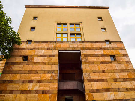 STUTTGART, GERMANY - JULY 14, 2012: The Neue Staatsgalerie art gallery is a masterpiece of postmodern architecture designed by British architect Sir James Stirling in 1977 (HDR)